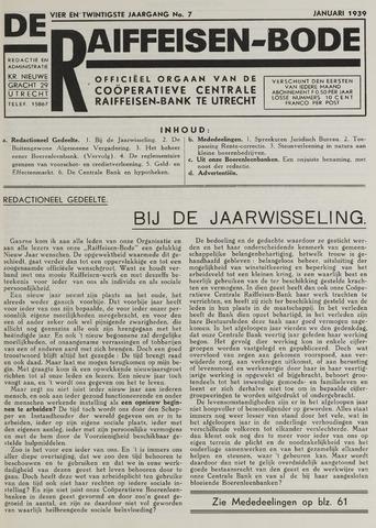 blad 'De Raiffeisen-bode' (CCRB) 1939-01-01