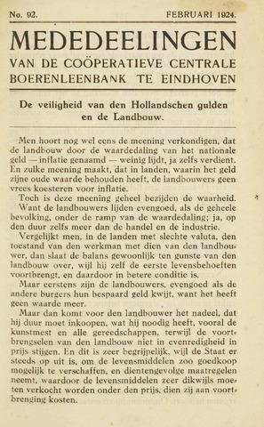 blad 'Maandelijkse Mededelingen' (CCB) 1924-02-01
