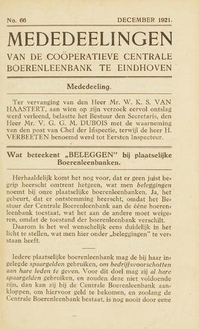 blad 'Maandelijkse Mededelingen' (CCB) 1921-12-01
