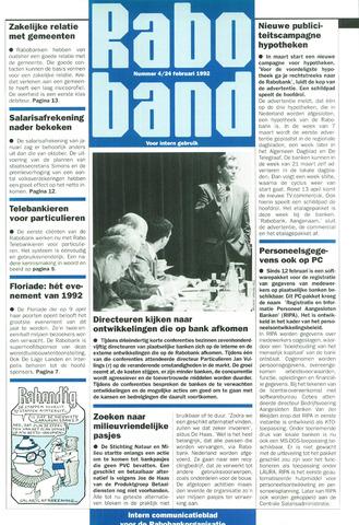 blad 'Raboband' 1992-02-24
