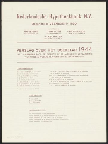 Jaarverslagen Nederlandsche Hypotheekbank 1944