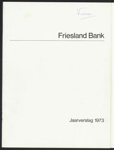 Jaarverslagen Friesland Bank 1973