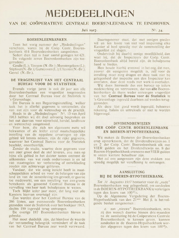 blad 'Mededeelingen' (CCB) 1917-07-01