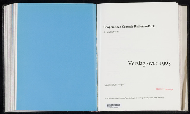 Jaarverslagen Coöperatieve Centrale Raiffeisen-Bank 1963