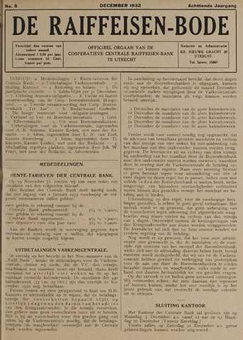 blad 'De Raiffeisen-bode' (CCRB) 1932-12-01