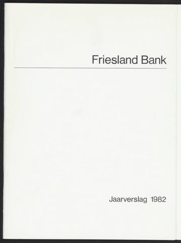 Jaarverslagen Friesland Bank 1982