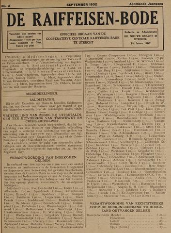 blad 'De Raiffeisen-bode' (CCRB) 1932-09-01