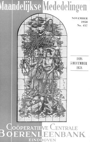 blad 'Maandelijkse Mededelingen' (CCB) 1958-11-01