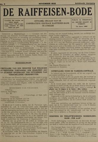 blad 'De Raiffeisen-bode' (CCRB) 1932-11-01