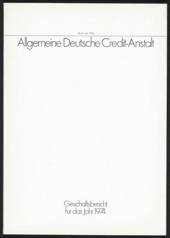 Geschäftsberichte Allgemeine Deutsche Credit-Anstalt / ADCA Bank 1974-01-01