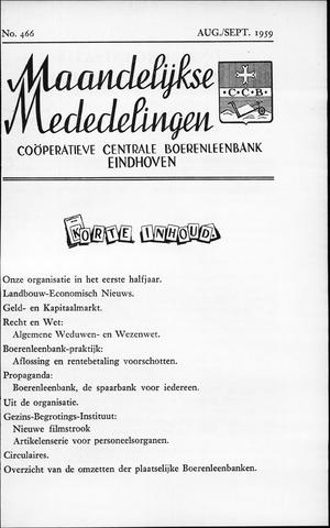blad 'Maandelijkse Mededelingen' (CCB) 1959-08-01