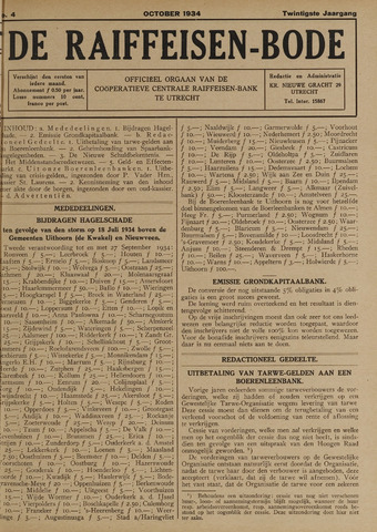 blad 'De Raiffeisen-bode' (CCRB) 1934-10-01