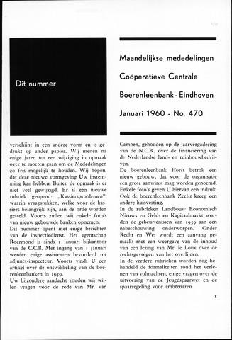 blad 'Maandelijkse Mededelingen' (CCB) 1960-01-01