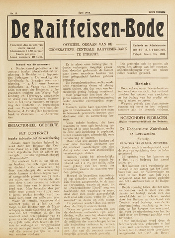 blad 'De Raiffeisen-bode' (CCRB) 1916-04-01