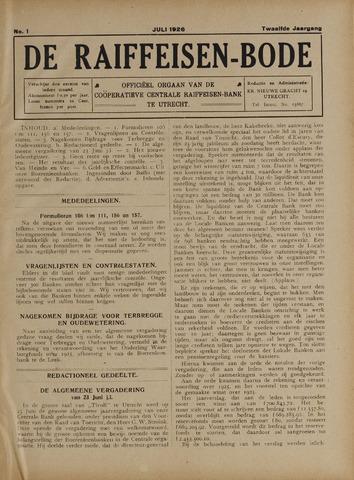 blad 'De Raiffeisen-bode' (CCRB) 1926-07-01