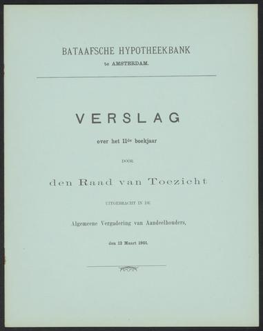 Jaarverslagen Bataafsche Hypotheekbank 1900