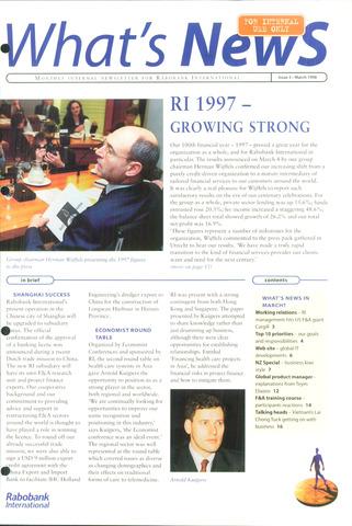 blad 'What's news' (EN) 1998-03-01