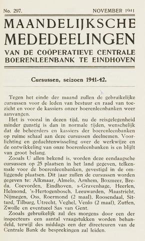 blad 'Maandelijkse Mededelingen' (CCB) 1941-11-01