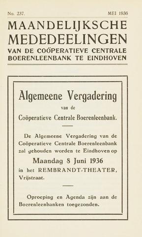 blad 'Maandelijkse Mededelingen' (CCB) 1936-05-01