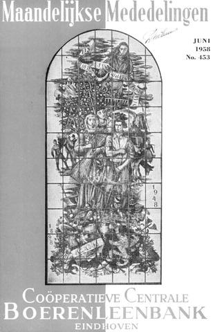 blad 'Maandelijkse Mededelingen' (CCB) 1958-06-01