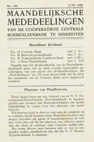 blad 'Maandelijkse Mededelingen' (CCB) 1929-06-01
