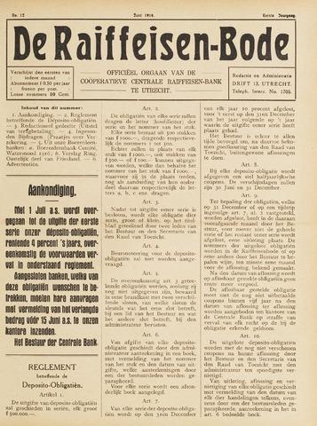 blad 'De Raiffeisen-bode' (CCRB) 1916-06-01