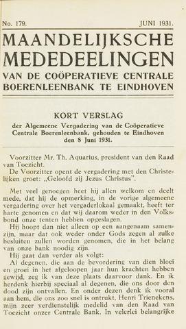 blad 'Maandelijkse Mededelingen' (CCB) 1931-06-01