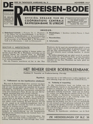 blad 'De Raiffeisen-bode' (CCRB) 1937-11-01