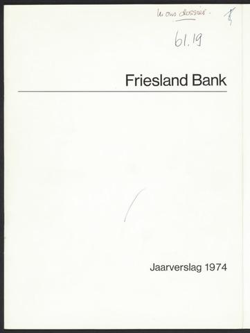 Jaarverslagen Friesland Bank 1974