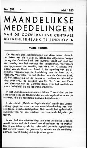 blad 'Maandelijkse Mededelingen' (CCB) 1953-05-01