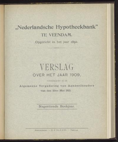 Jaarverslagen Nederlandsche Hypotheekbank 1909