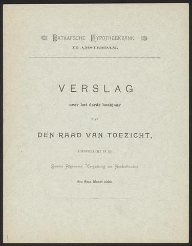 Jaarverslagen Bataafsche Hypotheekbank 1892