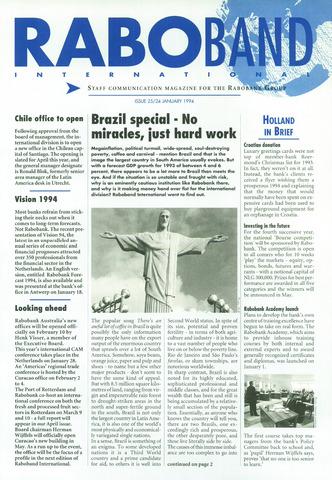 blad 'Raboband International' (EN) 1994