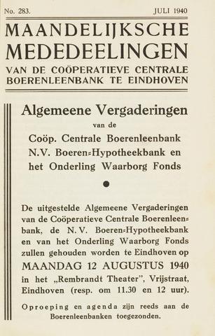 blad 'Maandelijkse Mededelingen' (CCB) 1940-07-01