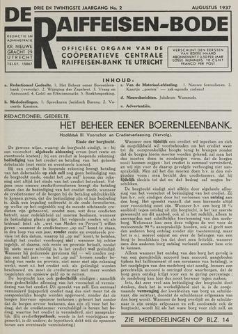 blad 'De Raiffeisen-bode' (CCRB) 1937-08-01