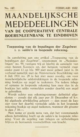blad 'Maandelijkse Mededelingen' (CCB) 1932-02-01