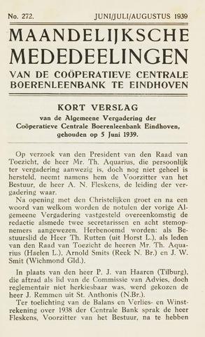 blad 'Maandelijkse Mededelingen' (CCB) 1939-06-01