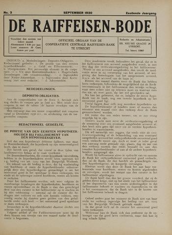 blad 'De Raiffeisen-bode' (CCRB) 1930-09-01