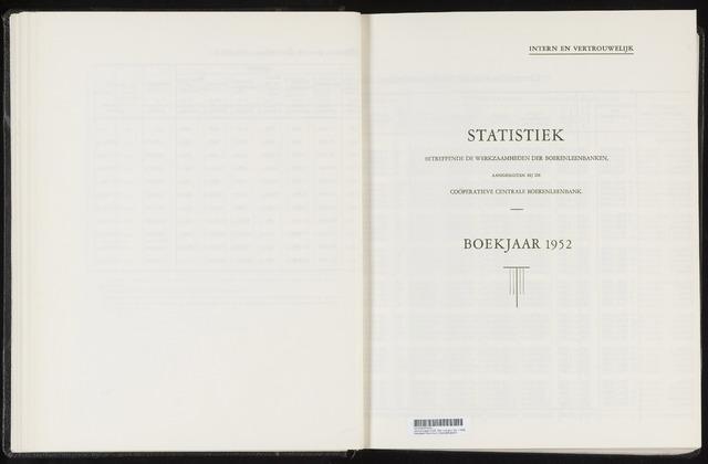 Statistiek aangesloten banken CCB 1952