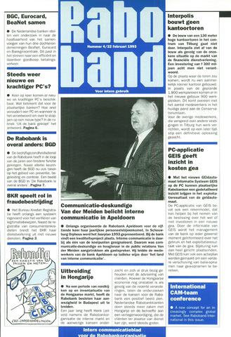 blad 'Raboband' 1993-02-22