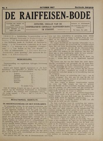 blad 'De Raiffeisen-bode' (CCRB) 1927-10-01