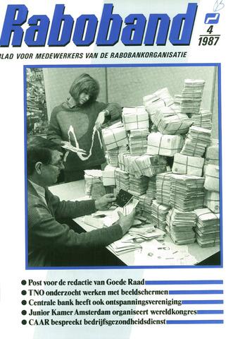 blad 'Raboband' 1987-03-18