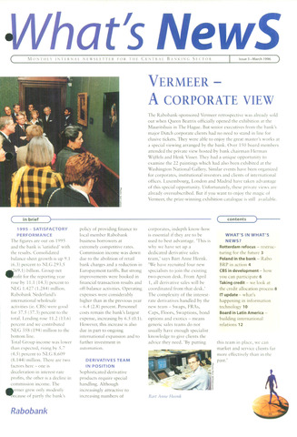 blad 'What's news' (EN) 1996-03-01