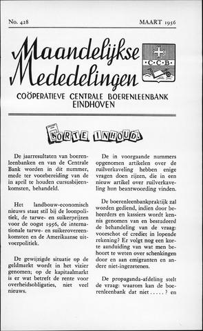 blad 'Maandelijkse Mededelingen' (CCB) 1956-03-01