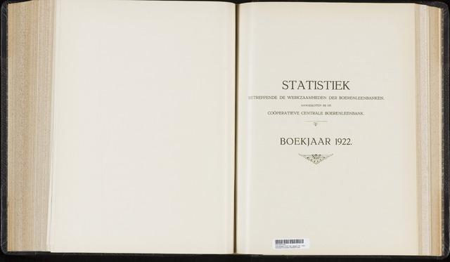 Statistiek aangesloten banken CCB 1922