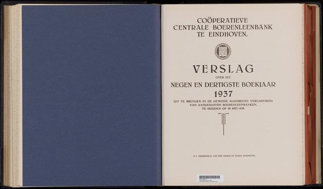 Jaarverslagen Coöperatieve Centrale Boerenleenbank 1937-12-31