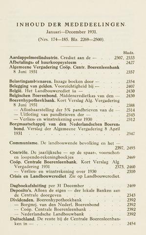 blad 'Maandelijkse Mededelingen' (CCB) 1931