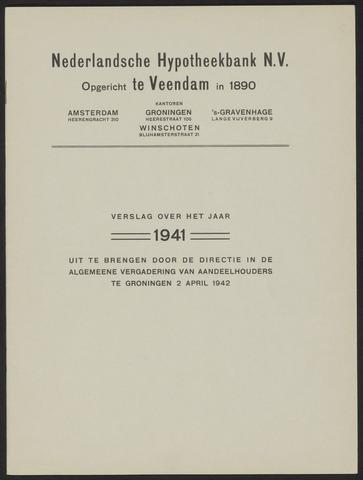 Jaarverslagen Nederlandsche Hypotheekbank 1941