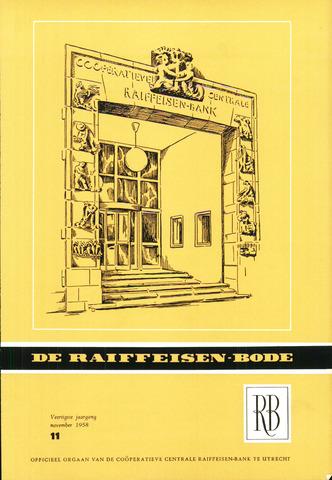 blad 'De Raiffeisen-bode' (CCRB) 1958-11-01