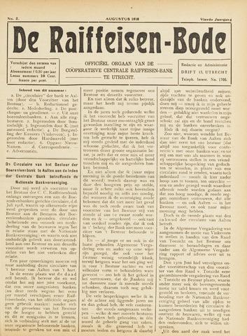 blad 'De Raiffeisen-bode' (CCRB) 1918-08-01
